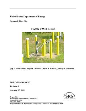 Primary view of object titled 'FY2002 P Well Activities Report'.