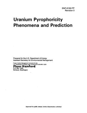 Primary view of object titled 'Uranium Pyrophoricity Phenomena and Prediction'.
