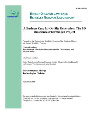 Primary view of object titled 'A business case for on-site generation: The BD biosciences pharmingen project'.