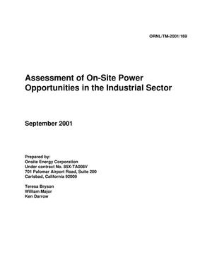 Primary view of object titled 'Assessment of On-Site Power Opportunities in the Industrial Sector'.