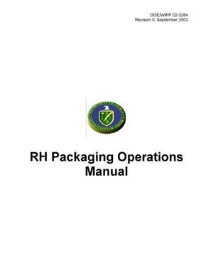 Primary view of object titled 'RH Packaging Operations Manual'.