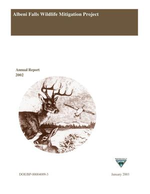 Primary view of object titled 'Albeni Falls Wildlife Mitigation : Annual Report 2002.'.
