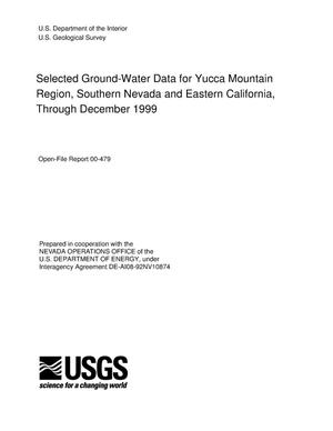 Primary view of object titled 'Selected ground-water data for Yucca Mountain region, Southern Nevada and Eastern California, through December 1999'.