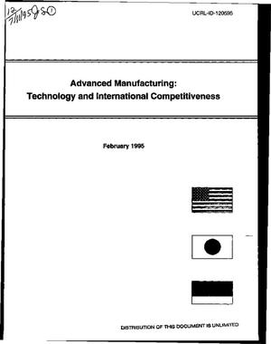 Primary view of object titled 'Advanced manufacturing: Technology and international competitiveness'.