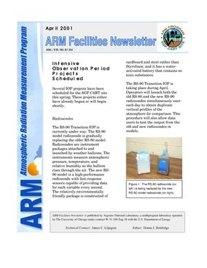 Primary view of object titled 'Atmospheric radiation measurement program facilities newsletter, April 2001.'.