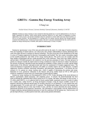 Primary view of object titled 'GRETA - Gamma ray energy tracking array'.