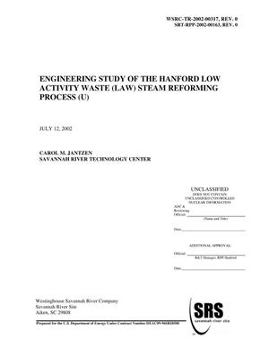 Primary view of object titled 'Engineering Study of the Hanford Low Activity Waste (LAW) Steam Reforming Process'.
