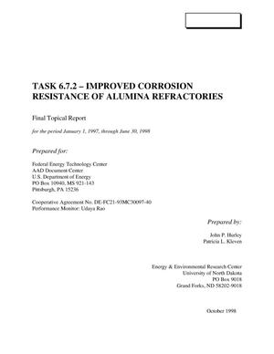 Primary view of object titled 'IMPROVED CORROSION RESISTANCE OF ALUMINA REFRACTORIES'.