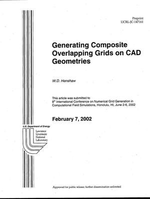 Primary view of object titled 'Generating Composite Overlapping Grids on CAD Geometries'.
