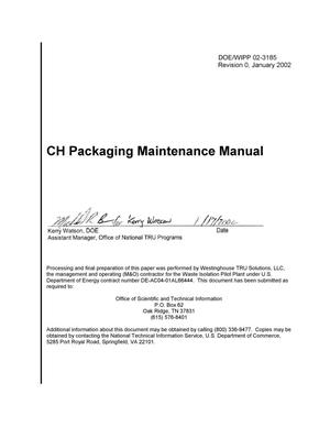 Primary view of object titled 'CH Packaging Maintenance Manual'.