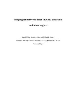 Primary view of Imaging femtosecond laser-induced electronic excitation in glass