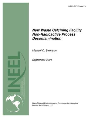 Primary view of object titled 'New Waste Calcining Facility Non-Radioactive Process Decontamination'.