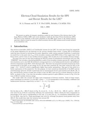 Primary view of object titled 'Electron-cloud simulation results for the SPS and recent results for the LHC'.