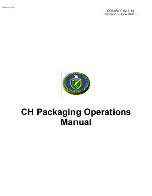 Primary view of object titled 'CH Packaging Operations Manual'.