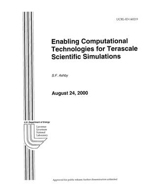 Primary view of object titled 'Enabling Computational Technologies for Terascale Scientific Simulations'.