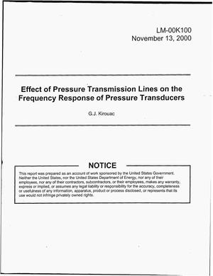 Primary view of object titled 'Effect of Pressure Transmission Lines on the Frequency Response of Pressure Transducers'.