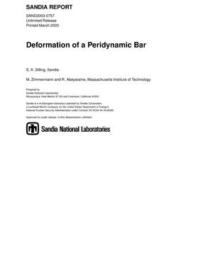 Primary view of object titled 'Deformation of a Peridynamic Bar'.