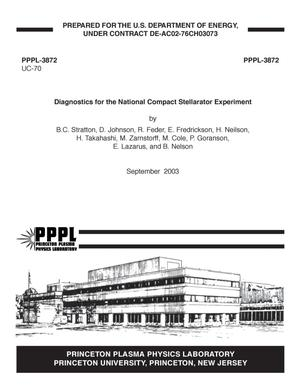 Primary view of object titled 'Diagnostics for the National Compact Stellarator Experiment'.