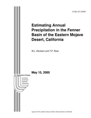 Primary view of object titled 'Estimating Annual Precipitation in the Fenner Basin of the Eastern Mojave Desert, California'.