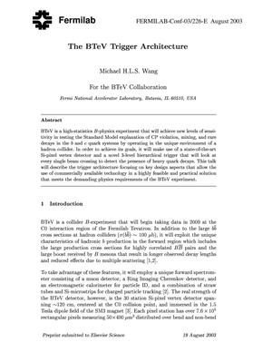 Primary view of object titled 'The BTeV trigger architecture'.