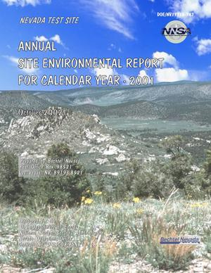 Primary view of object titled 'Annual Site Environmental Report for Calendar Year 2001'.