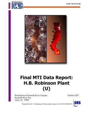 Primary view of object titled 'Final MTI Data Report: H. B. Robinson Plant'.