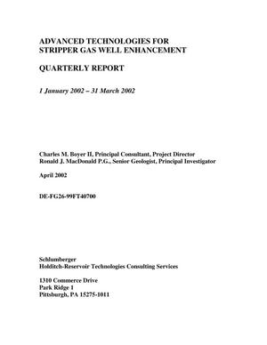 Primary view of object titled 'ADVANCED TECHNOLOGIES FOR STRIPPER GAS WELL ENHANCEMENT'.
