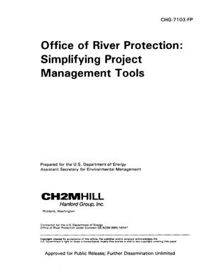Primary view of object titled 'Office of River Protection: Simplifying Project management tools'.