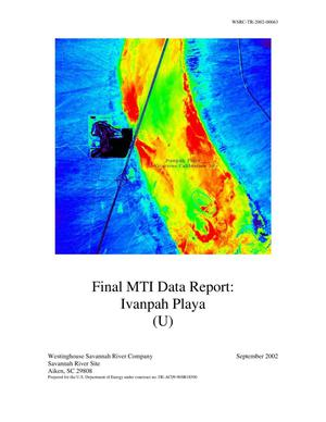 Primary view of object titled 'Final MTI Data Report: Ivanpah Playa'.