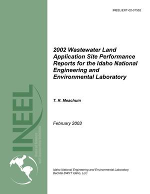 Primary view of object titled '2002 Wastewater Land Application Site Performance Reports for the Idaho National Engineering and Environmental Laboratory'.