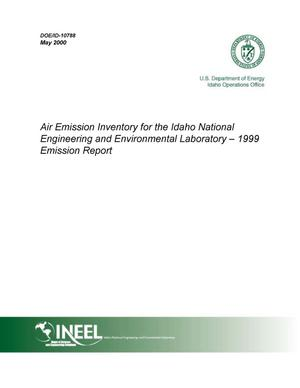 Primary view of object titled 'Air Emission Inventory for the Idaho National Engineering and Environmental Laboratory - Calendar Year 1999 Emission Report'.
