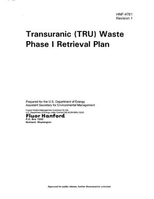 Primary view of object titled 'Transuranic (TRU) Waste Phase I Retrieval Plan'.