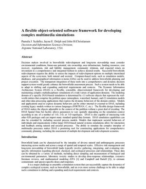 Primary view of object titled 'A flexible object-oriented software framework for developing complex multimedia simulations.'.