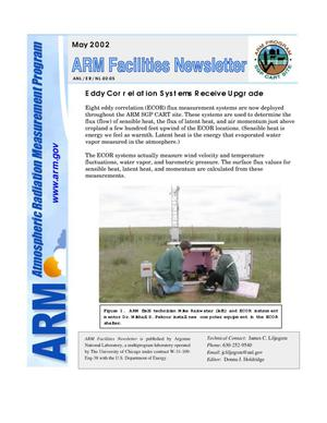 Primary view of object titled 'Atmospheric Radiation Measurement program facilities newsletter, May 2002.'.