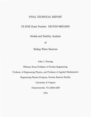 Primary view of object titled 'Models and Stability Analysis of Boiling Water Reactors'.
