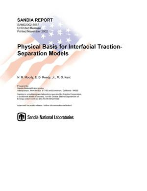 Primary view of object titled 'Physical Basis for Interfacial Traction-Separation Models'.