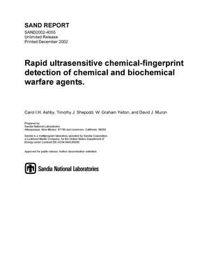 Primary view of object titled 'Rapid Ultrasensitive Chemical-Fingerprint Detection of Chemical and Biochemical Warfare Agents'.