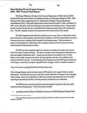 State Heating Oil and Propane Program final report  Survey of No 2