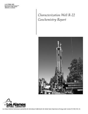 Primary view of object titled 'Characterization Well R-22 Geochemistry Report'.