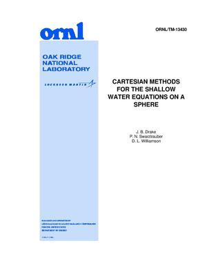 Primary view of object titled 'Cartesian Methods for the Shallow Water Equations on a Sphere'.