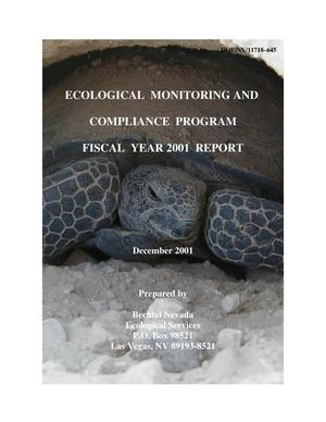 Primary view of object titled 'Ecological Monitoring and Compliance Program Fiscal Year 2001'.