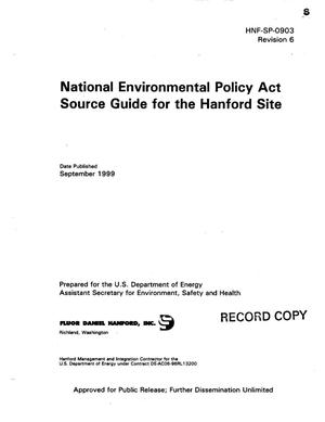 Primary view of object titled 'National Environmental Policy Act (NEPA) Source Guide for the Hanford Site September 1999'.