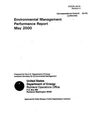 Primary view of object titled 'Environmental Management Performance Report May 2000'.