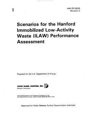 Primary view of object titled 'Scenarios for the Hanford immobilized Low-Activity waste (ILAW) performance assessment'.