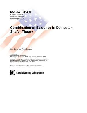 Primary view of object titled 'Combination of Evidence in Dempster-Shafer Theory'.