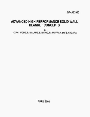 Primary view of object titled 'ADVANCED HIGH PERFORMANCE SOLID WALL BLANKET CONCEPTS'.