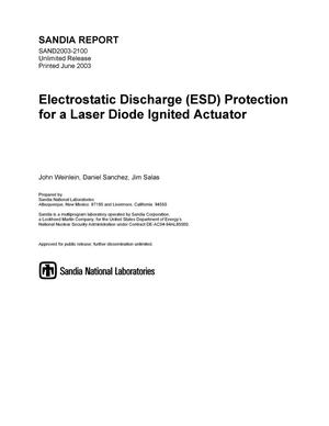 Primary view of object titled 'Electrostatic Discharge (ESD) Protection for a Laser Diode Ignited Actuator'.