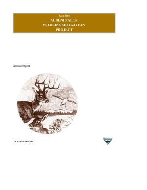 Primary view of object titled 'Albeni Falls Wildlife Mitigation Project : Annual Report of Mitigation Activities.'.