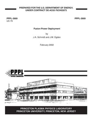 Primary view of object titled 'Fusion Power Deployment'.