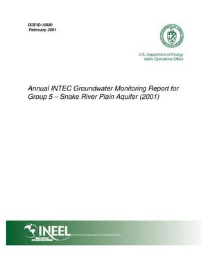 Primary view of object titled 'Annual INTEC Groundwater Monitoring Report for Group 5 - Snake River Plain Aquifer (2001)'.
